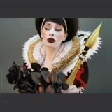 Autographed Print MC Bourbonnais - Queen of Spades Behind the Scene 03