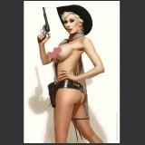 "16"" X 24"" Pearlescent Paper Autographed Poster MC Bourbonnais - Cowgirl 06"