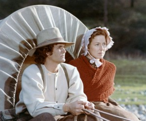 LITTLE HOUSE ON THE PRAIRIE -- Pilot Episode -- Air Date 03/30/1974 -- Pictured: (l-r) Michael Landon as Charles Philip Ingalls, Karen Grassle as Caroline Quiner Holbrook Ingalls -- Photo by: NBCU Photo Bank